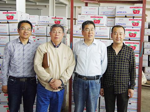 山东省农科院果树所、国家苹果工程技术研究中心参观
